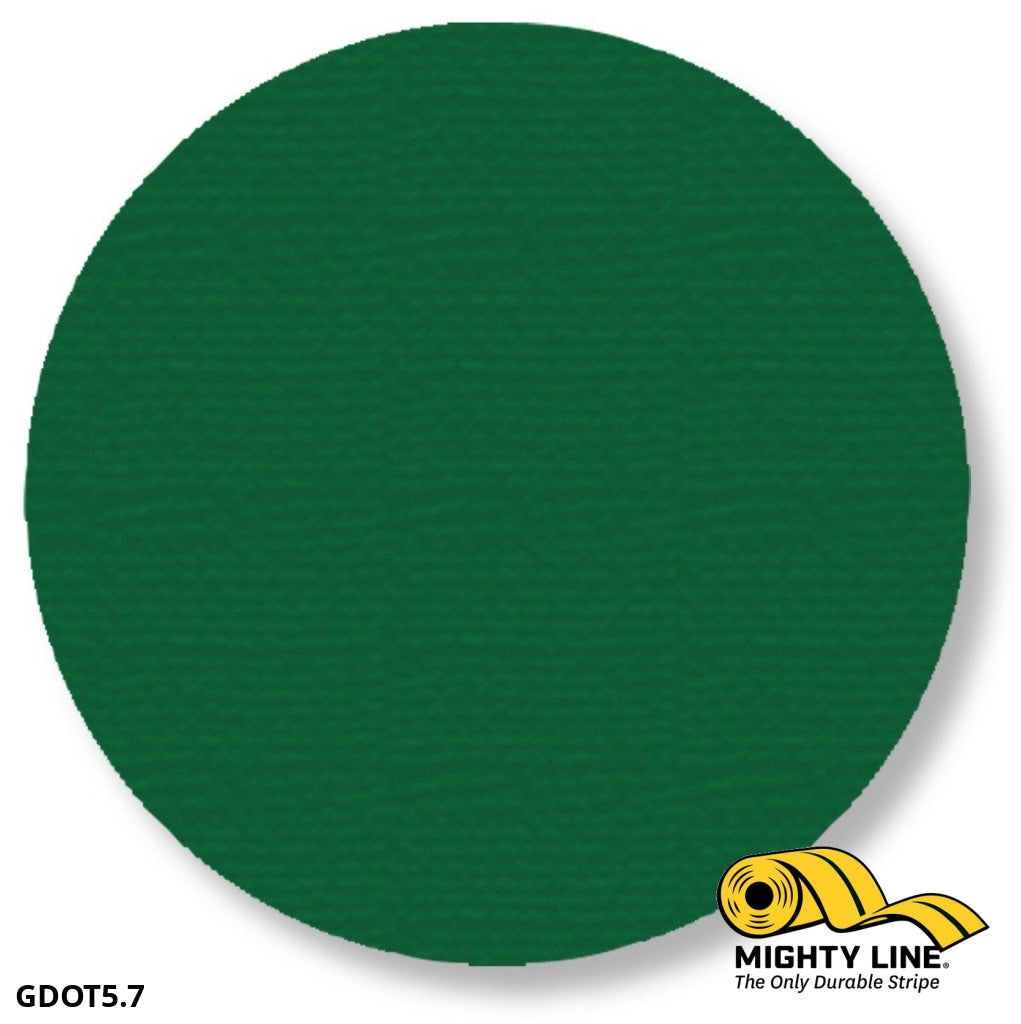 5.7 Green Solid Dot - Pack Of 100 Floor Marking Product