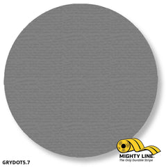5.7 Gray Solid Dot - Pack Of 100 Floor Marking Product