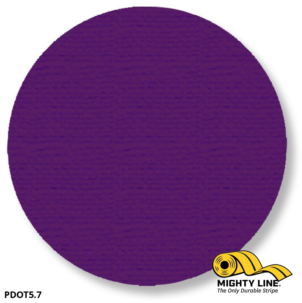 5.7 Purple Solid Dot - Pack Of 100 Floor Marking Product