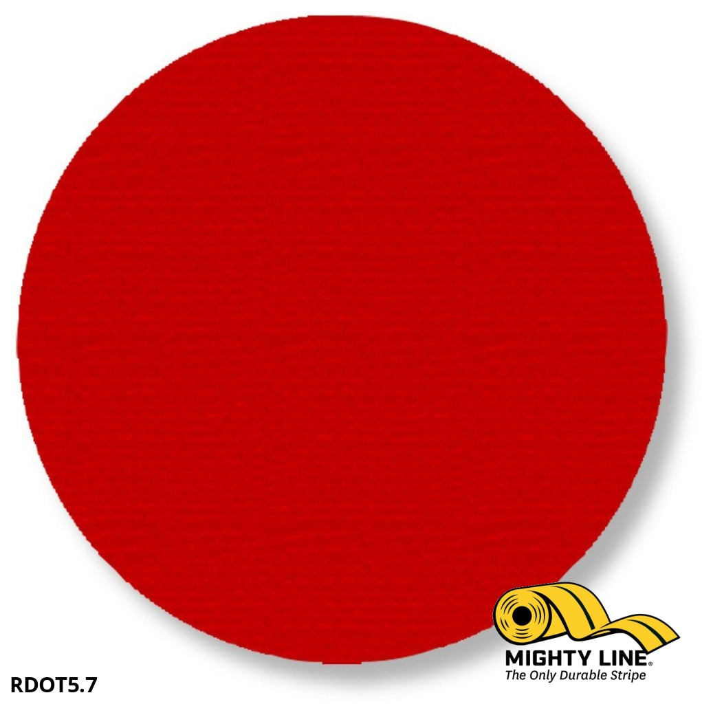 5.7 Red Solid Dot - Pack Of 100 Floor Marking Product