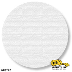 5.7 White Solid Dot - Pack Of 100 Floor Marking Product