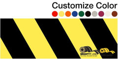 Customized - 6 Repeating Message Floor Tape With Black Diagonals 1 Roll