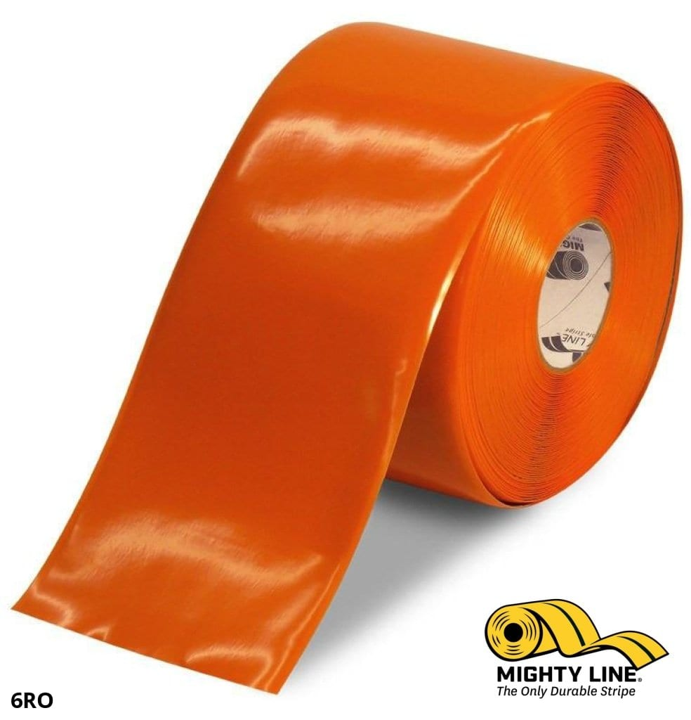 6 Orange Solid Color Tape - 100 Roll Safety Floor Product