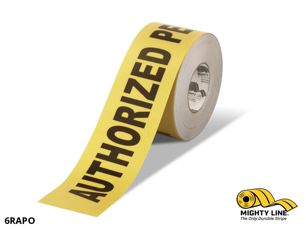 6 Wide Authorized Personnel Only Floor Tape - 100 Roll Product