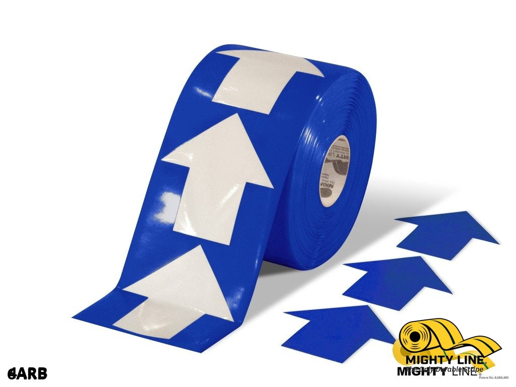 4 Wide Solid Blue Arrow Roll 280 Arrows Product