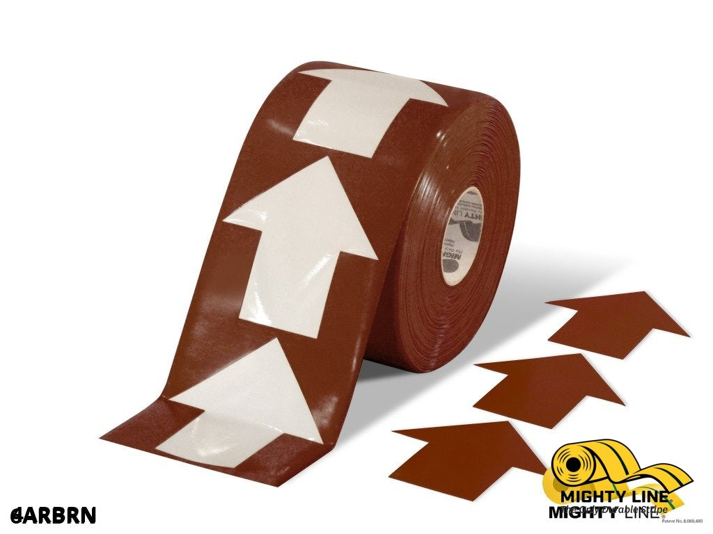 4 Wide Solid Brown Arrow Roll 280 Arrows Product