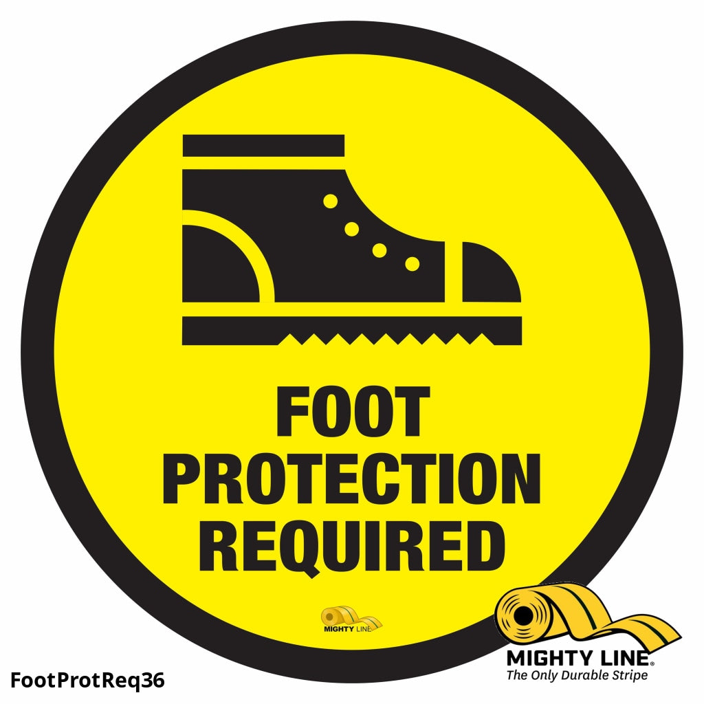 Foot Protection Required - Floor Marking Sign 36 Product
