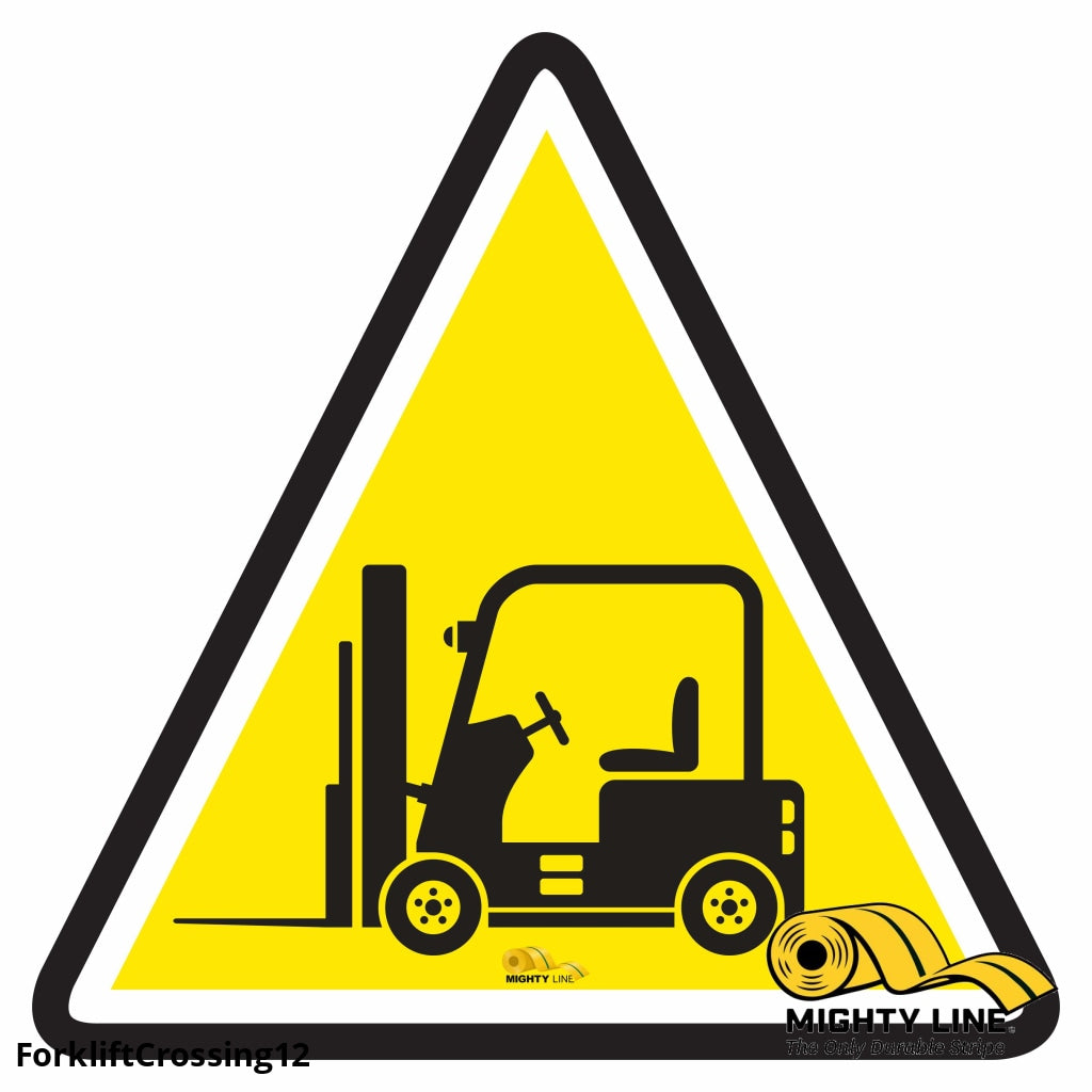 Forklift Crossing - Floor Marking Sign 12 Product