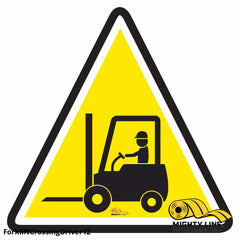 Forklift Crossing With Driver - Floor Marking Sign 12 Product