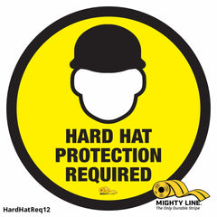 Hard Hat Required - Floor Marking Sign 12 Product