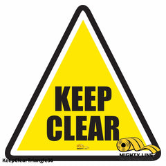 Keep Clear Triangle Floor Sign - Marking 36 Product