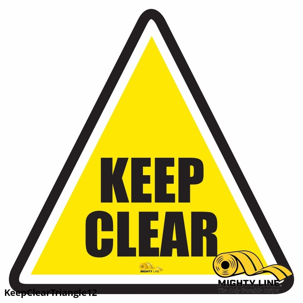 Keep Clear Triangle Floor Sign - Marking 12 Product