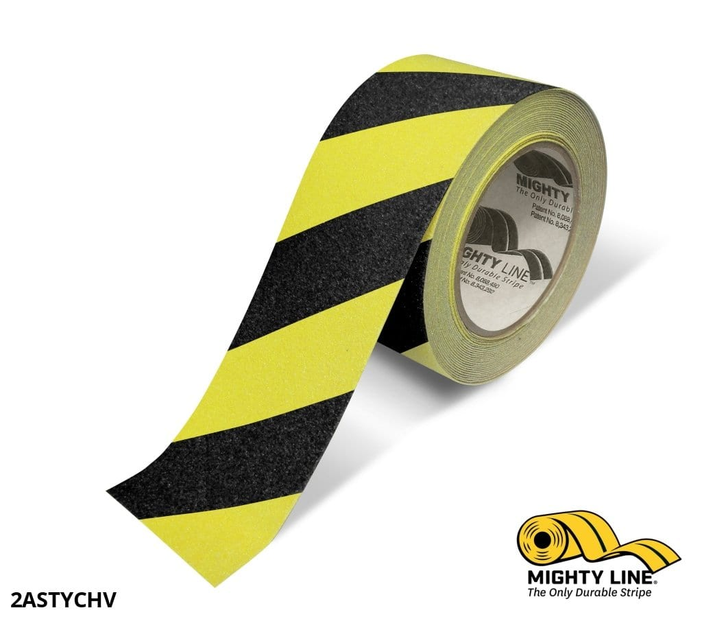 2 Yellow With Black Chevrons Anti-Slip Floor Tape - 60 Roll Product