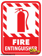 Fire Extinguisher Modern Floor Sign - Marking 12 Product