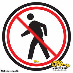 No Pedestrian Floor Sign - Marking 36 Product
