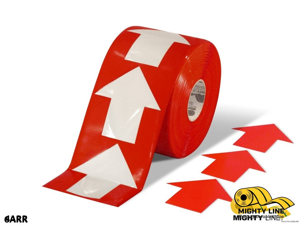 4 Wide Solid Red Arrow Roll 280 Arrows Product