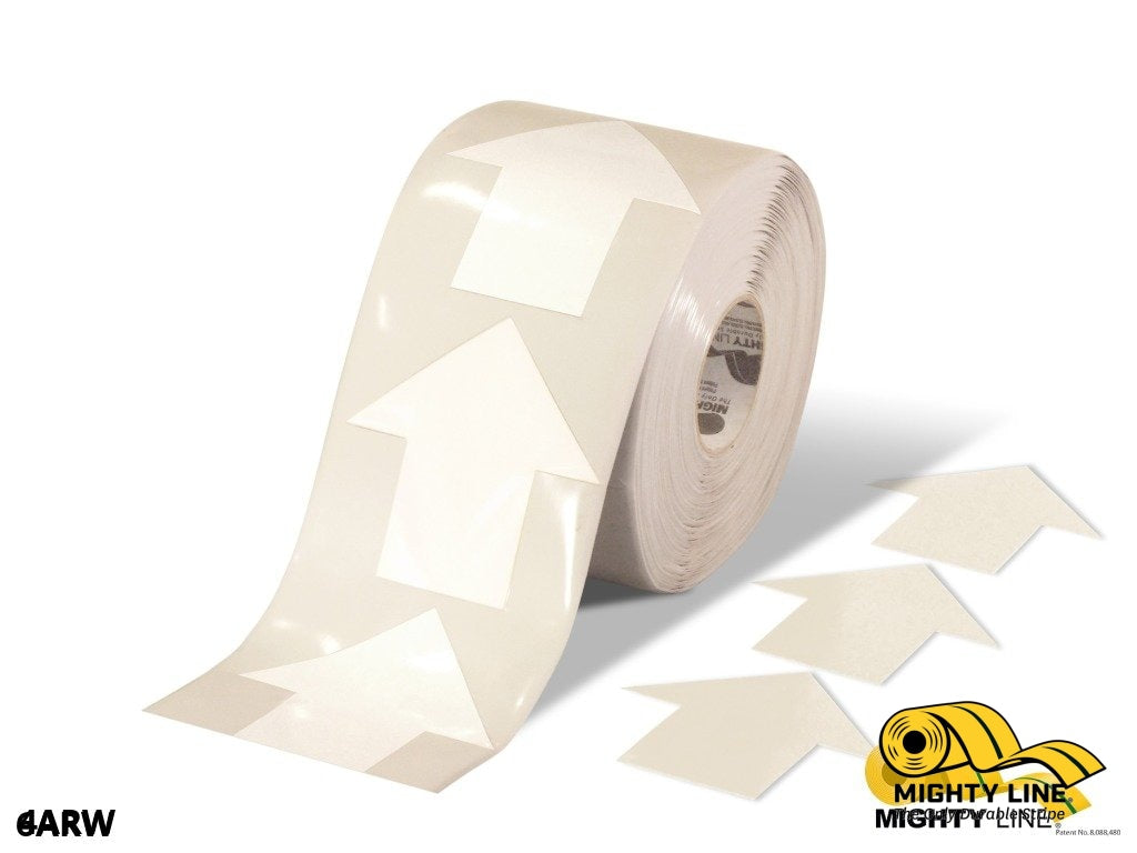 4 Wide Solid White Arrow Roll 280 Arrows Product