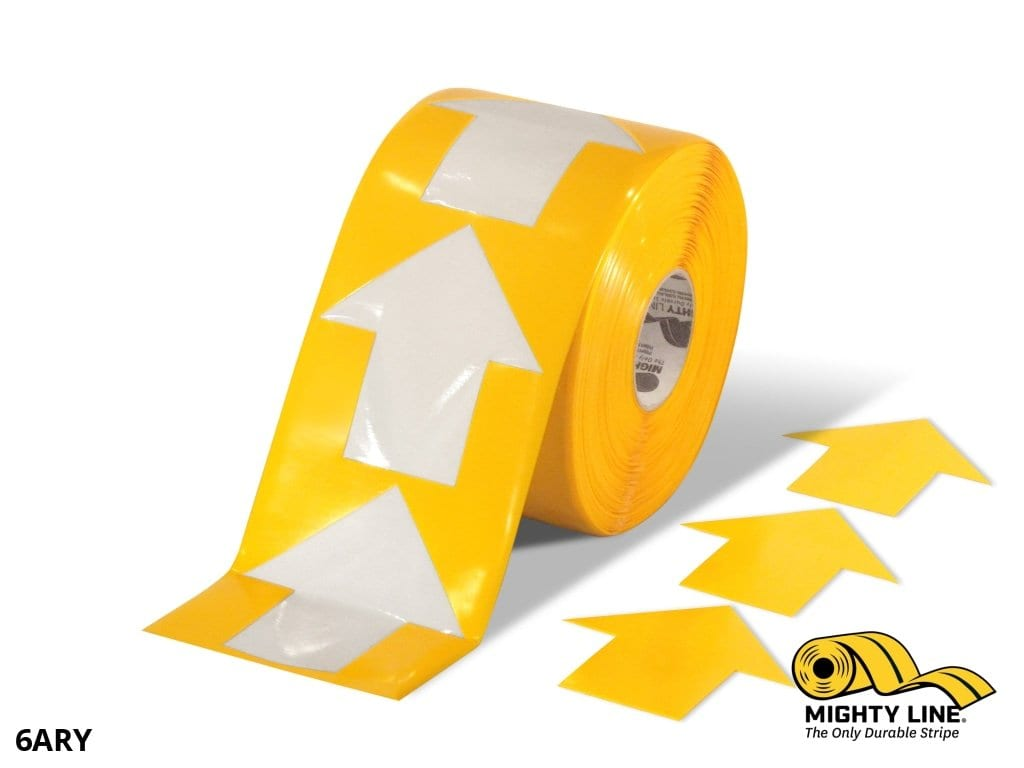5.5 Wide Solid Yellow Arrow Roll 200 Arrows Product