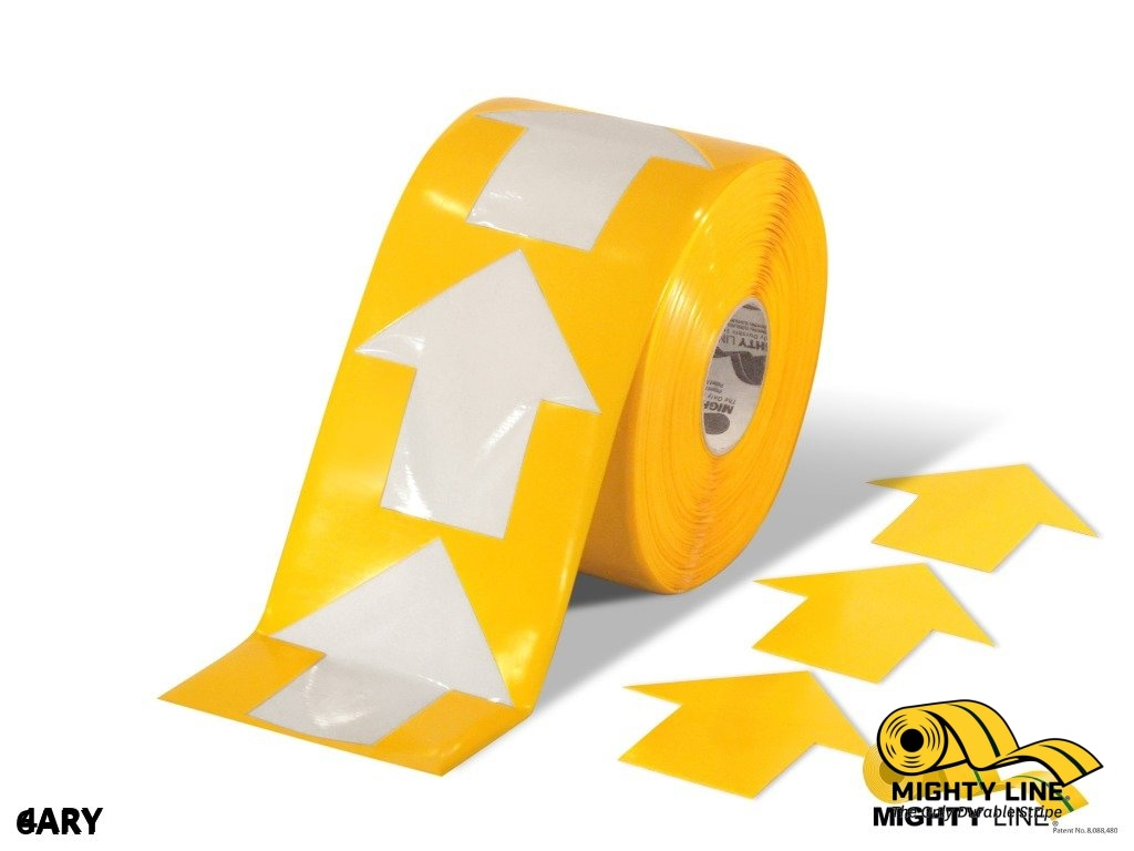 4 Wide Solid Yellow Arrow Roll 280 Arrows Product
