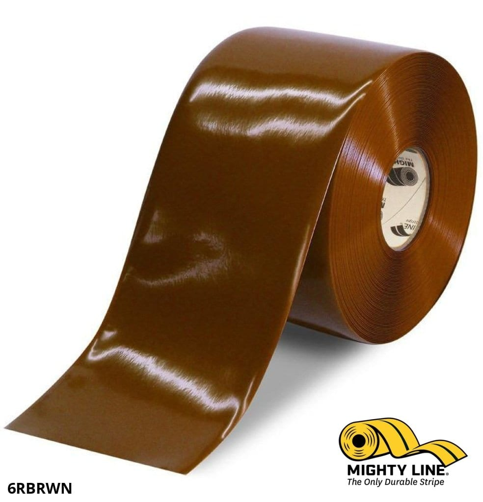 6 Brown Solid Color Tape - 100 Roll Safety Floor Product