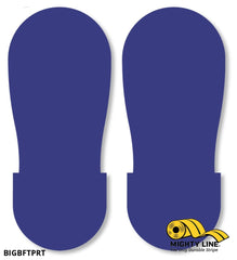 Blue Big Footprint - Pack Of 50 Floor Marking Product