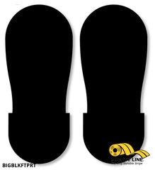 Black Big Footprint - Pack Of 50 Floor Marking Product