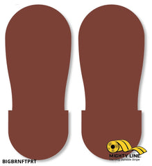 Brown Big Footprint - Pack Of 50 Floor Marking Product