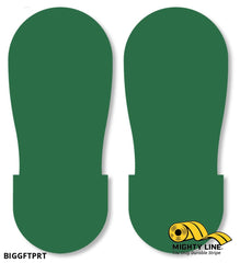 Green Big Footprint - Pack Of 50 Floor Marking Product