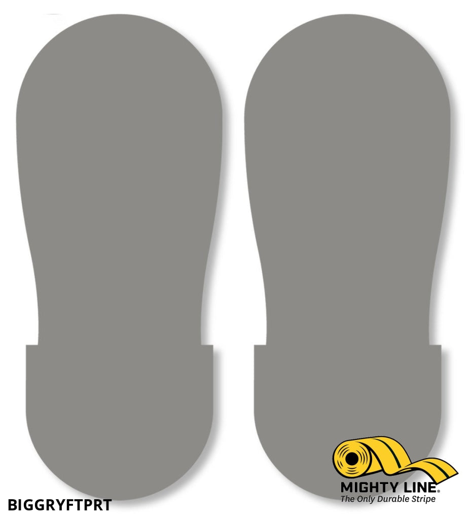 Gray Big Footprint - Pack Of 50 Floor Marking Product