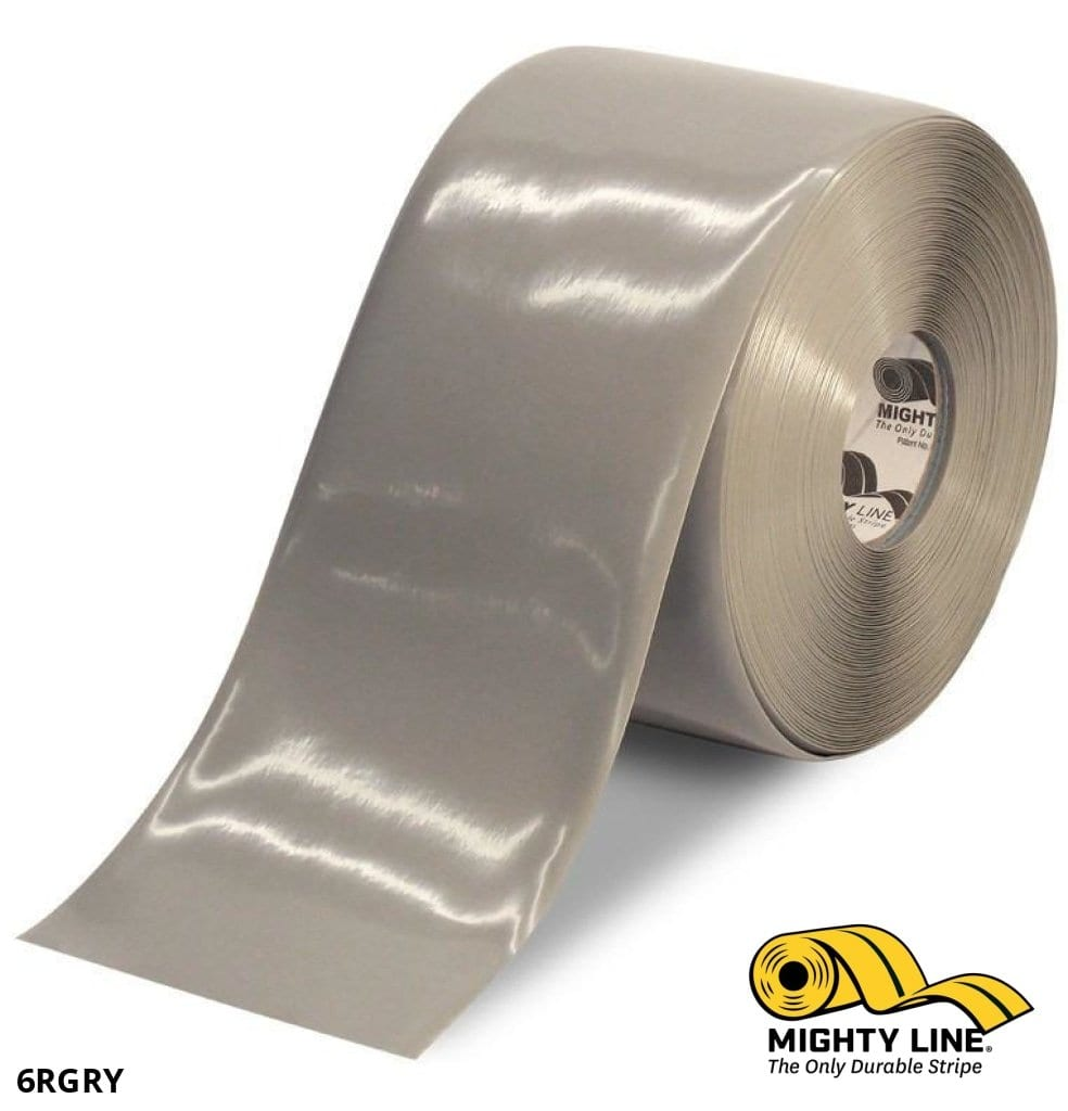 6 Gray Solid Color Tape - 100 Roll Safety Floor Product