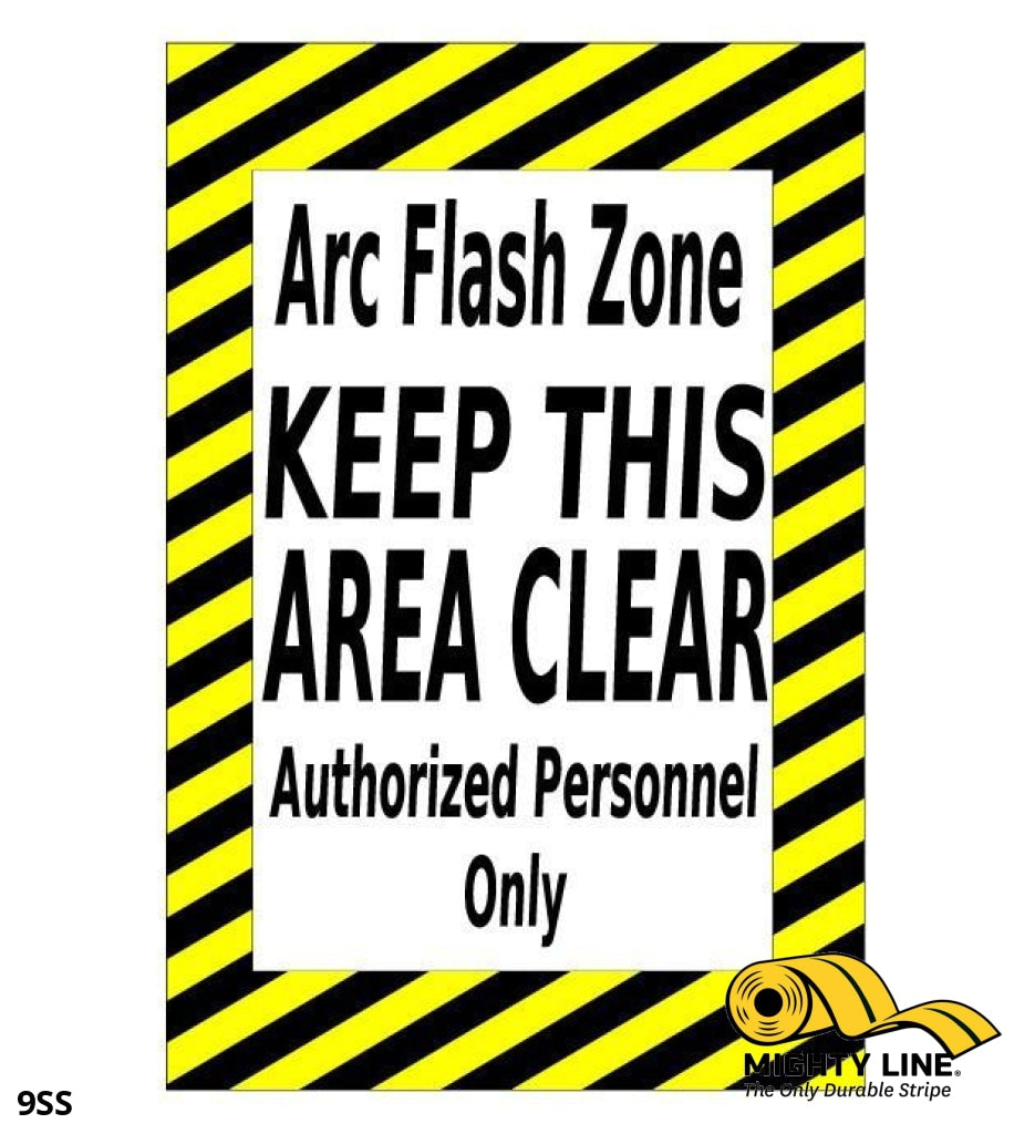Mighty Line Arc Flash Zone Caution Sign - 1 Floor Marking Product