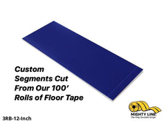 Custom Cut Segments - 3 Blue Solid Color Tape 100 Roll Product