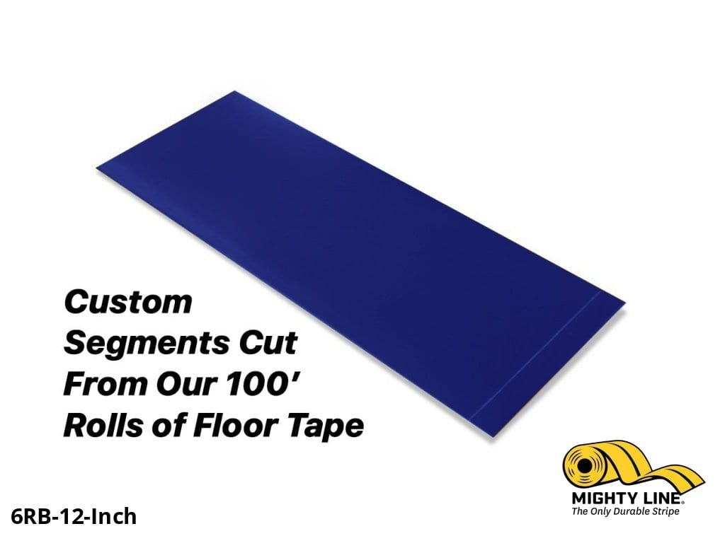 Custom Cut Segments - 6 Blue Solid Color Tape 100 Roll Product