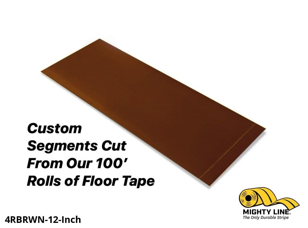 Custom Cut Segments - 4 Brown Solid Color Tape 100 Roll Product