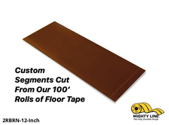 Custom Cut Segments - 2 Brown Solid Color Tape 100 Roll Product