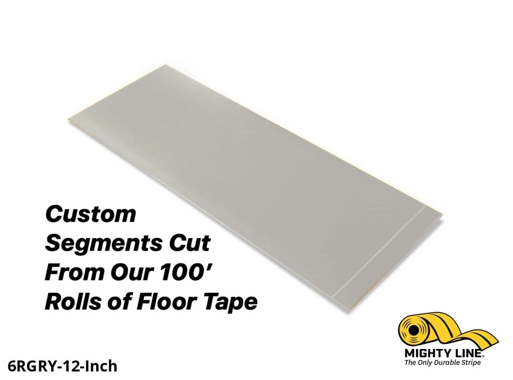 Custom Cut Segments - 6 Gray Solid Color Tape 100 Roll Product