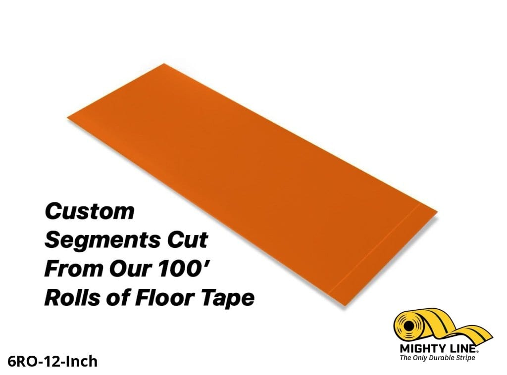 Custom Cut Segments - 6 Orange Solid Color Tape 100 Roll Product