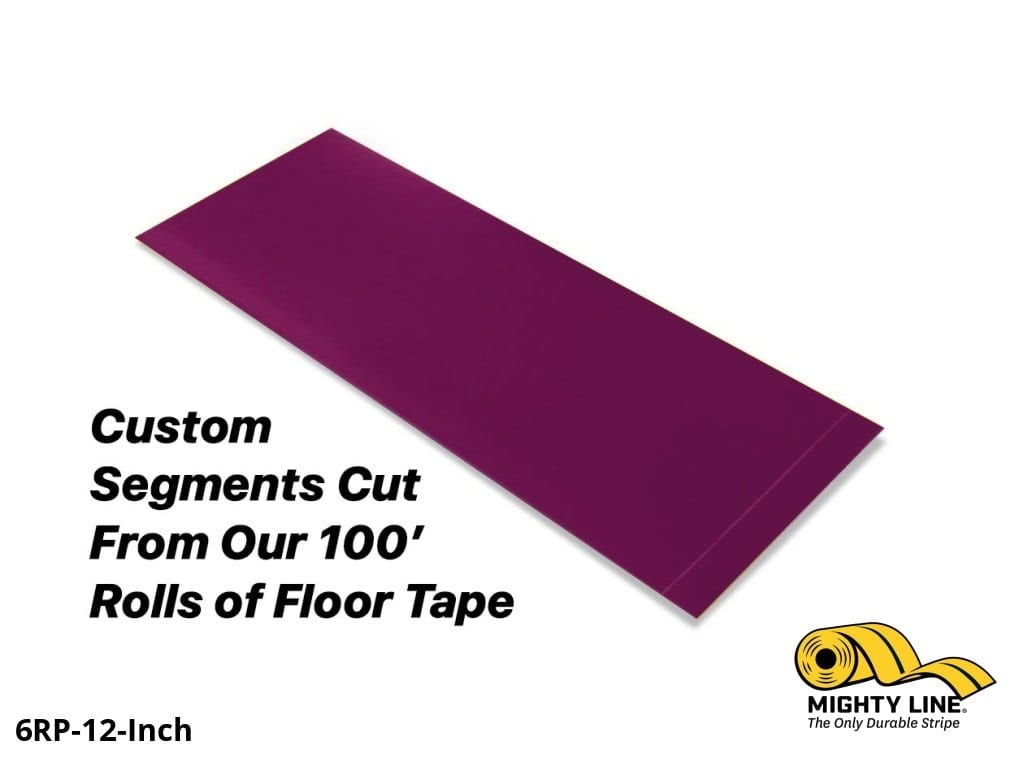 Custom Cut Segments - 6 Purple Solid Color Tape 100 Roll Product