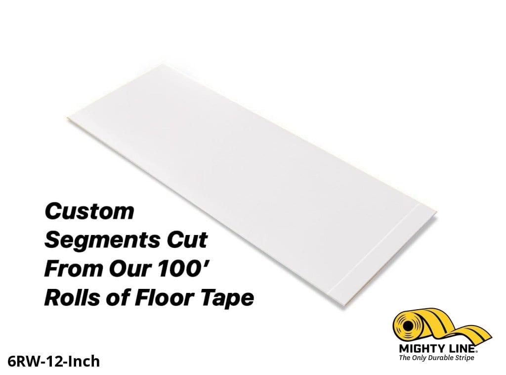 Custom Cut Segments - 6 White Solid Color Tape 100 Roll Product