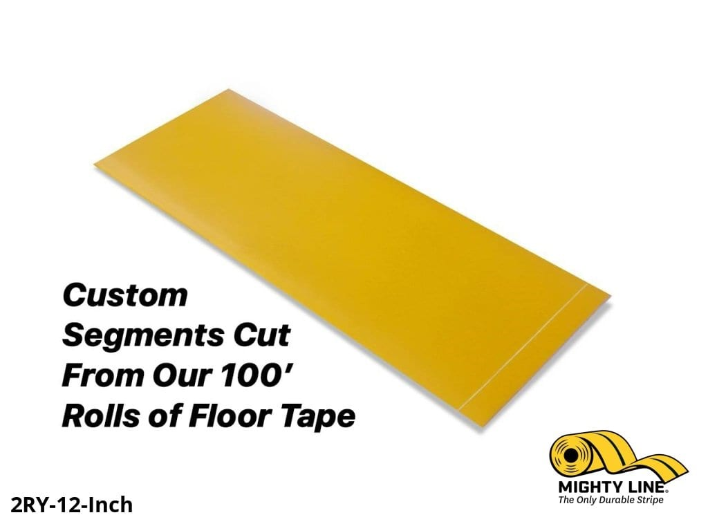 Custom Cut Segments - 2 Yellow Solid Color Tape 100 Roll Product
