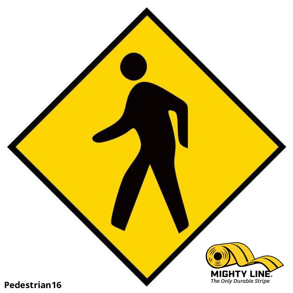 Mighty Line Pedestrian - 1 Sign Floor Marking Product