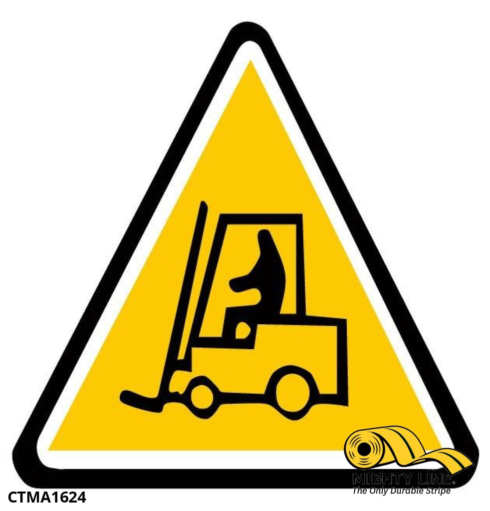 Caution Tow Motor Ahead Sign - 1 Floor Marking Product