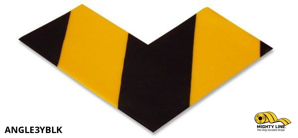 3 Wide Solid Yellow Angle With Black Chevrons - Pack Of 100 Safety Floor Tape & Marking Product