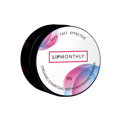 Lip Monthly Organic Charcoal Teeth Whitening Powder