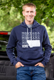 Navy Blue Cotton Fleece Hoodie