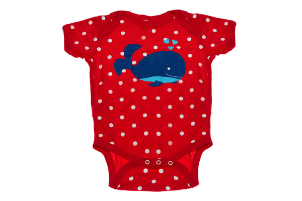 Whale With Polka Dots Onesie