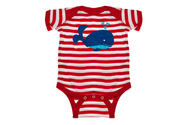 Whale With Stripes Onesie