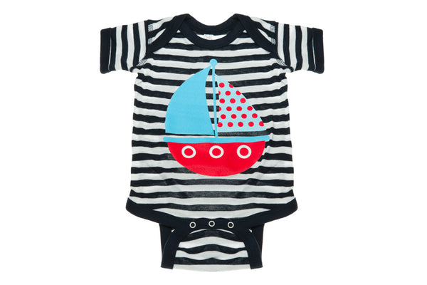 Sailboat With Stripes Onesie