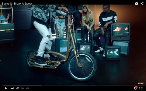 becky g break a sweat video stepper bike step scooter scooter bike hybrid freestyle bike.