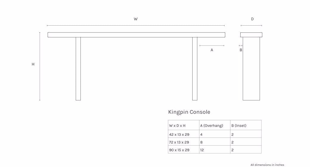 dimensions-picture: Kingpin Console